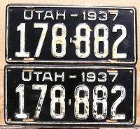 UTAH 1937 PAIR