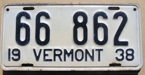 VERMONT 1938 - DECEMBER