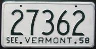 1958 VERMONT