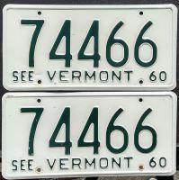 VERMONT 1960 PAIR