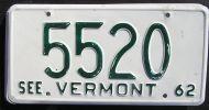 VERMONT 1962