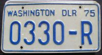 WASHINGTON 1975 DEALER