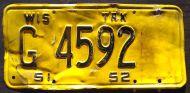 WISCONSIN 1951-1952 INSERT TRUCK
