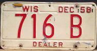 WISCONSIN 1958 DEALER