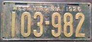WEST VIRGINIA 1926