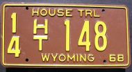 1968 WYOMING HOUSE TRAILER
