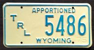WYOMING 1975 APPORTIONED TRAILER