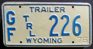 1975 WYOMING GAME AND FISH TRAILER