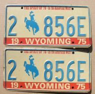 WYOMING 1975 PAIR